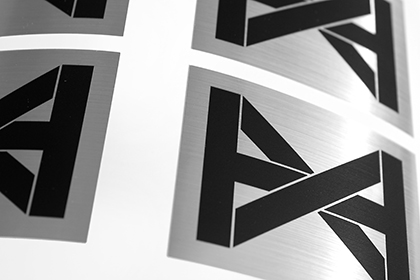 Metallic brushed aluminium stickers