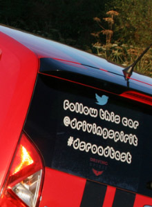 Self cling car sticker