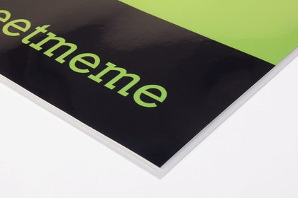 Laminated gloss paper poster