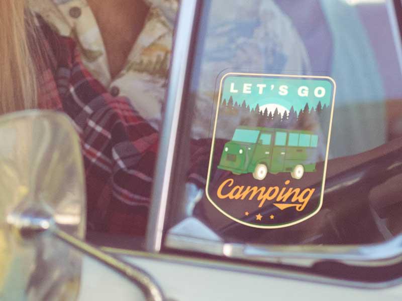 custom stickers for camper vans