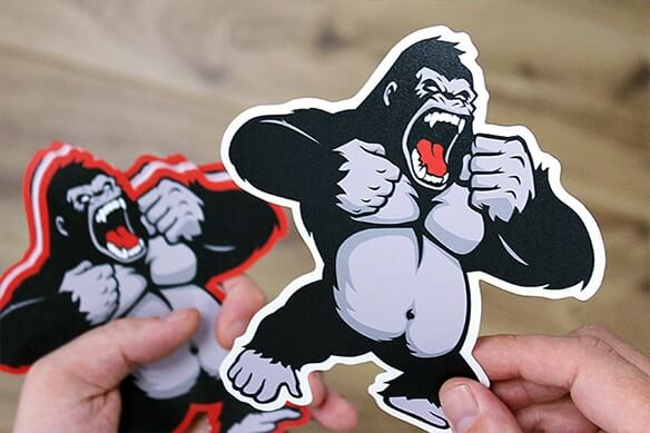 Die cut vinyl sticker printing UK