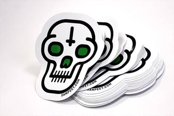 Custom shape sticker printing