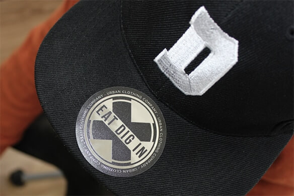 Baseball cap stickers