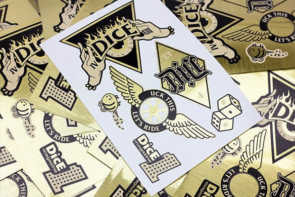 Gold sticker sheets