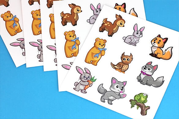 Cartoon sticker sheets
