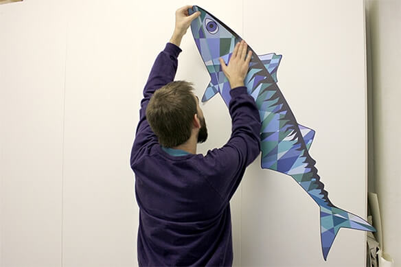 Giant wall sticker printing