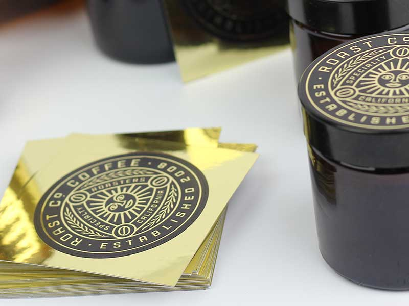 custom gold sticker printing