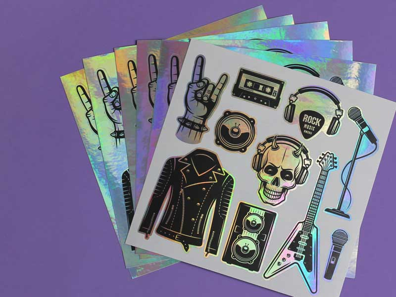 custom metallic sticker sheets uk