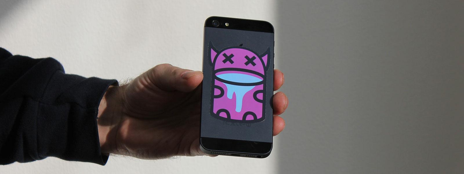 custom phone sticker printing