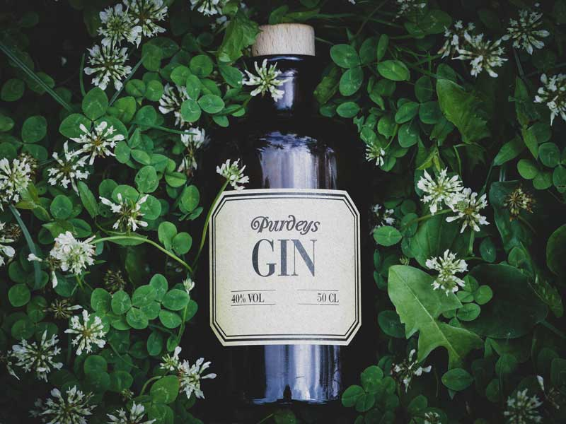 custom gin bottle stickers