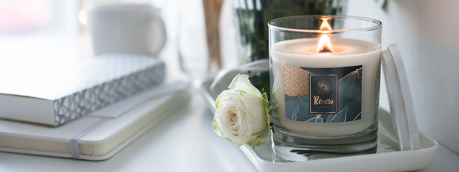 scented candle stickers