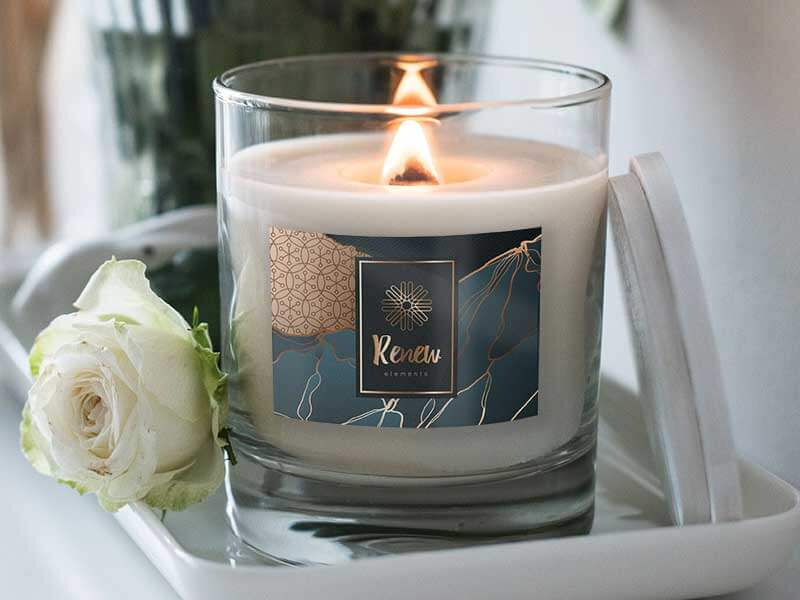 custom scented candle labels