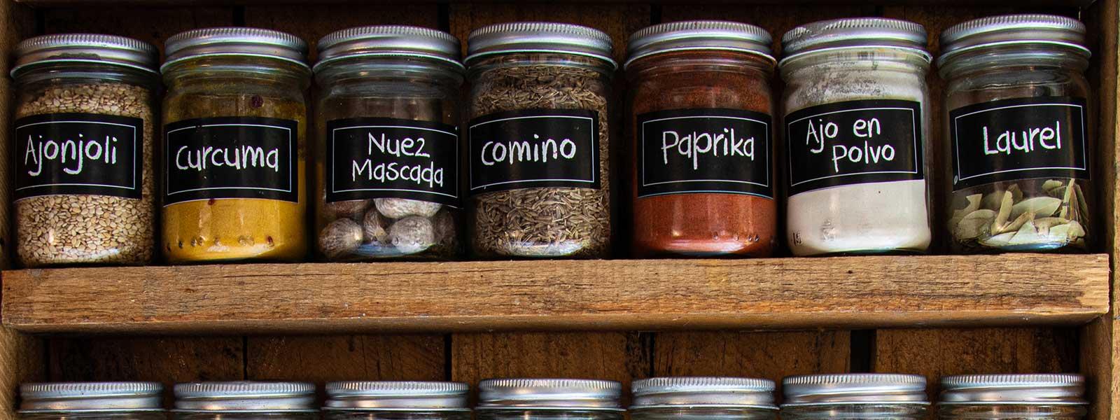 spice jar label printing