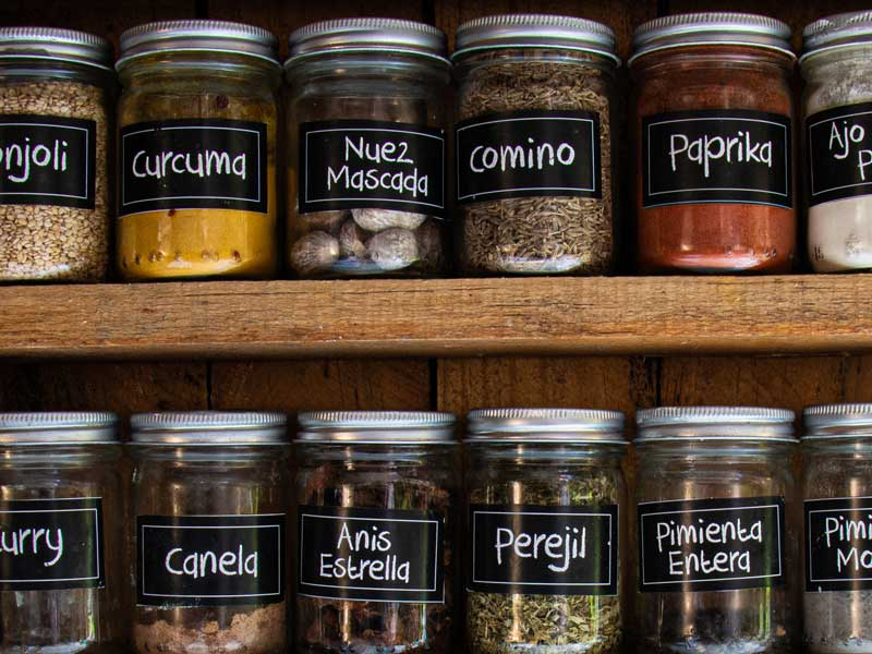 custom spice jar and bottle stickers