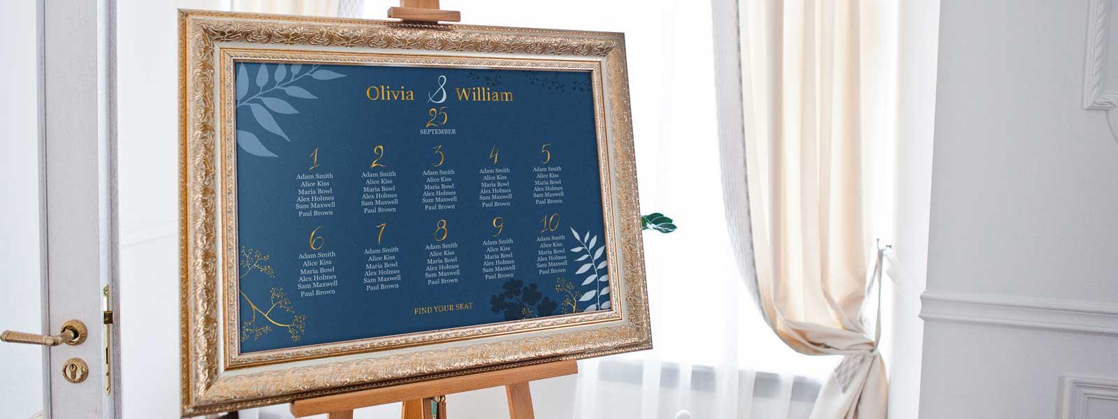 wedding table plan printing