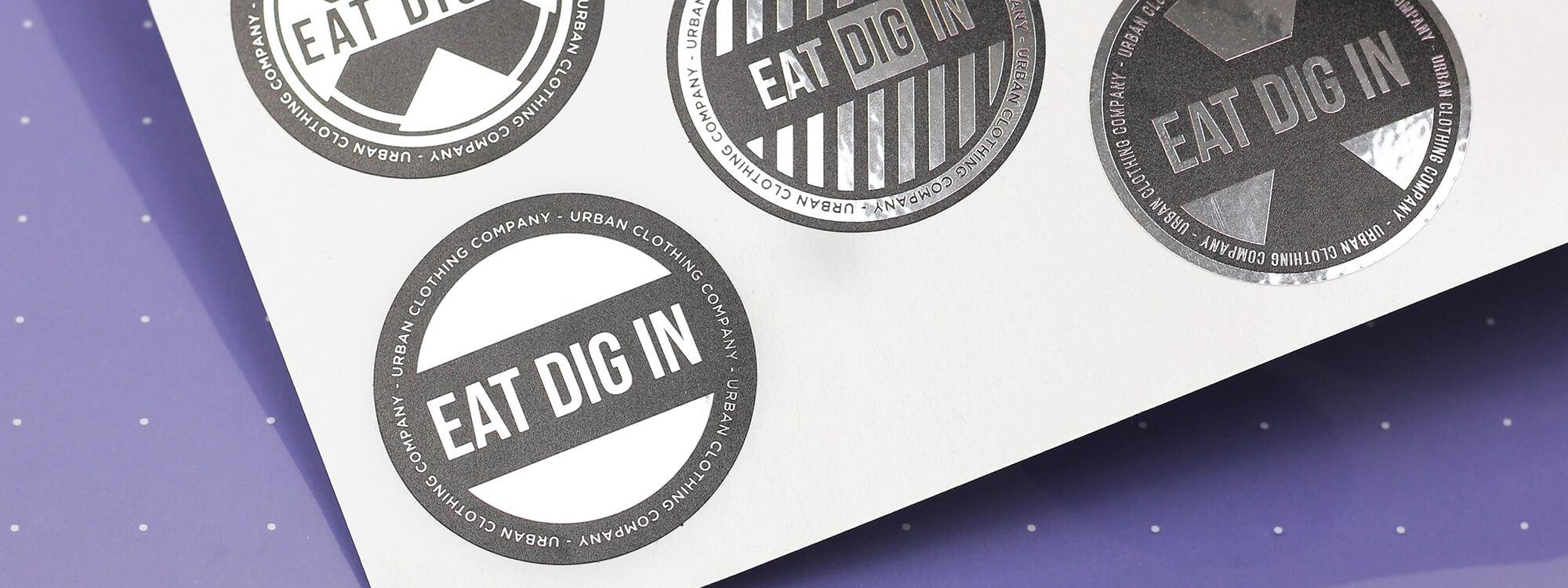 Snapback sticker printing