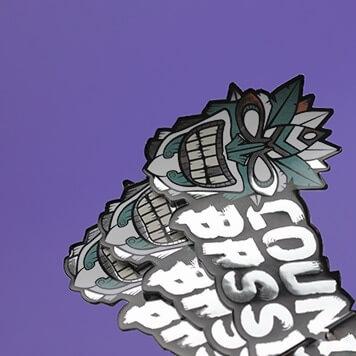 die cut silver stickers