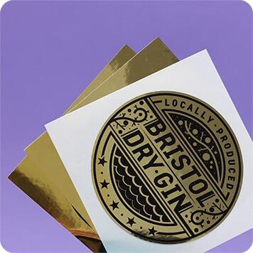 individual metallic stickers