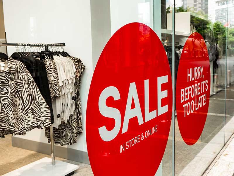 retail sale signage